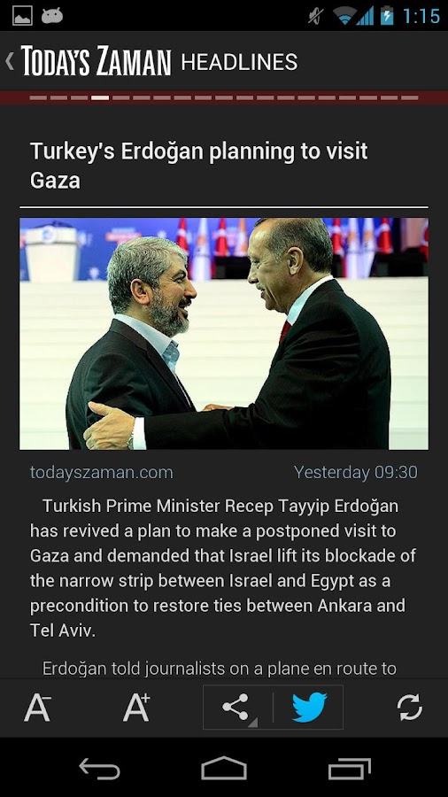 Today's Zaman- screenshot