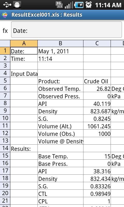 Petroleum Volume Correction Pr- screenshot