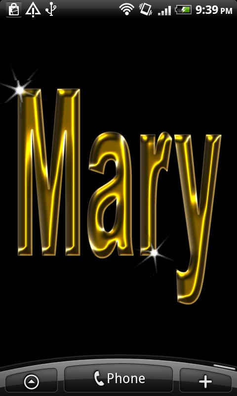 Mary Gold Name- screenshot