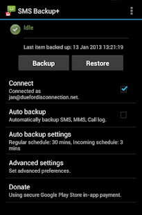 SMS Backup + Screenshot 3