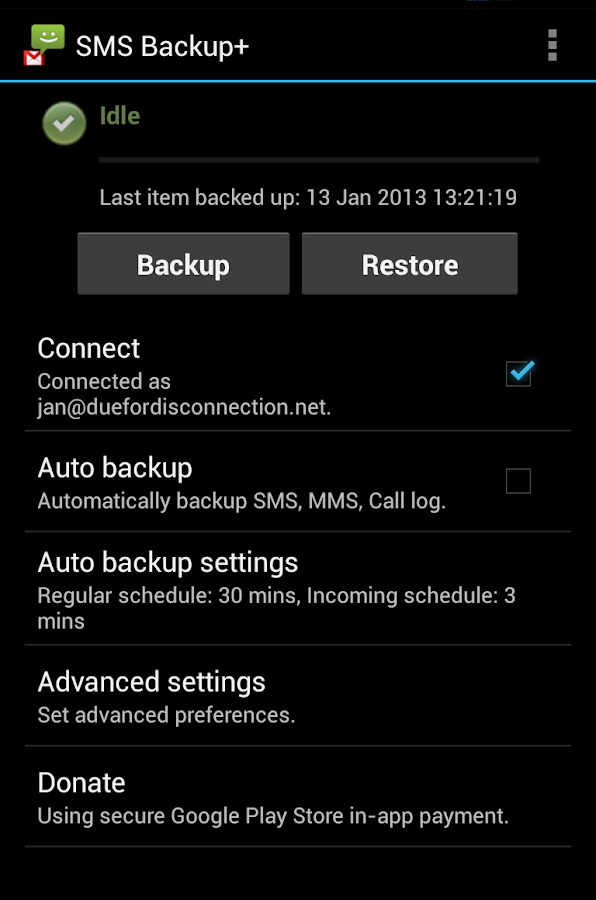 SMS Backup + - screenshot