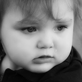 Sad Kitty by Stephanie Munguia-Wharry - Babies & Children Children Candids ( girl, sad, baby )