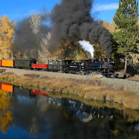 by George Herbert - Transportation Trains ( steam engine, 2009, fall, sumpter,  )