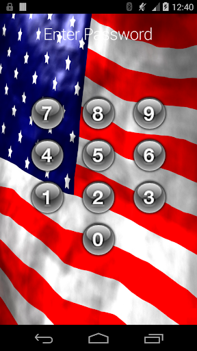 Mobile App Lock USA Flag