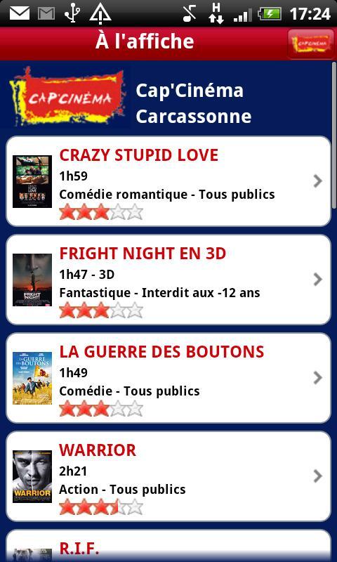 Cap'Cinéma - screenshot