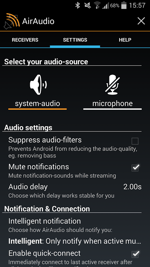 AirAudio - AirPlay for Android - screenshot