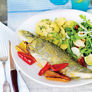 Pan-fried Trout with Smoked Salmon