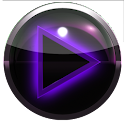 poweramp skin glow purple icon