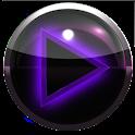poweramp skin glow purple icon