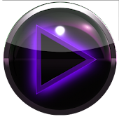 poweramp skin glow purple
