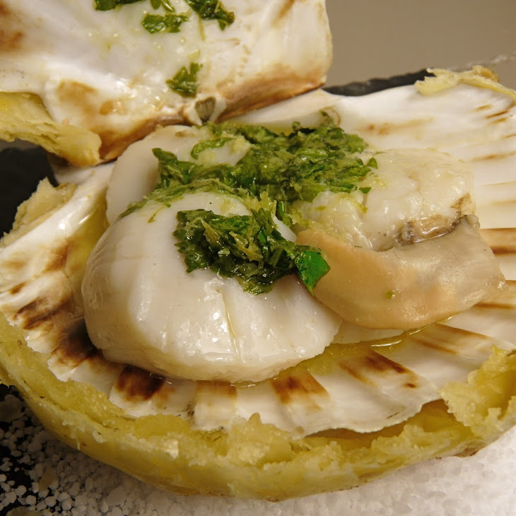 Scallops with Ginger Butter, Cilantro, and Lime