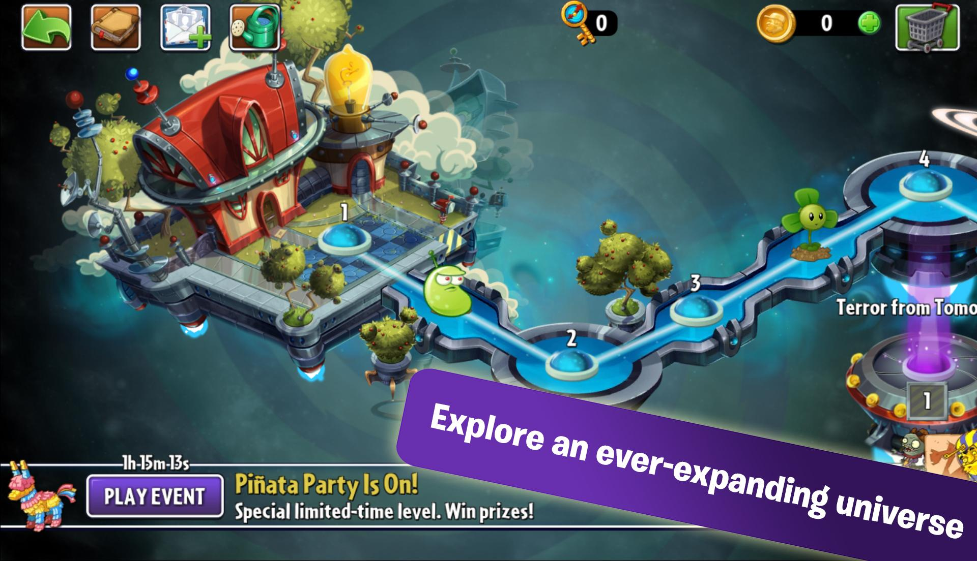 Plants vs. Zombies 2 screenshot #2