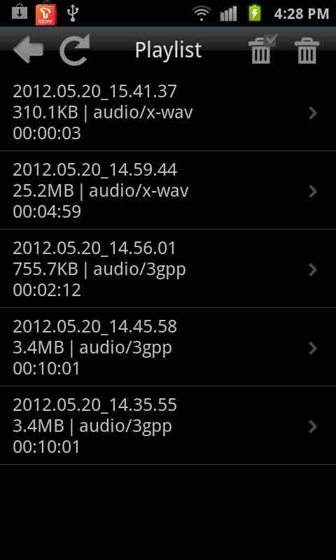 Legendary Voice Recorder Lite - screenshot