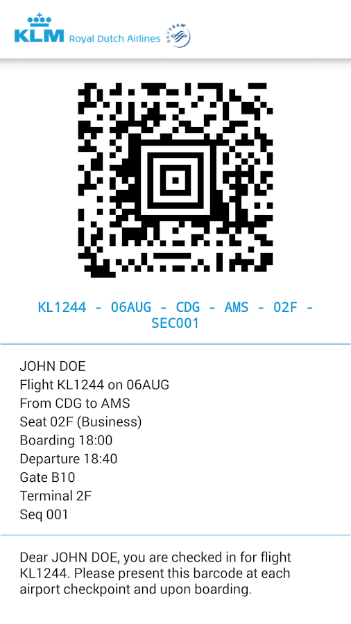 KLM - Royal Dutch Airlines - screenshot