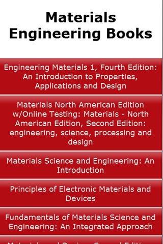 Materials Engineering Book