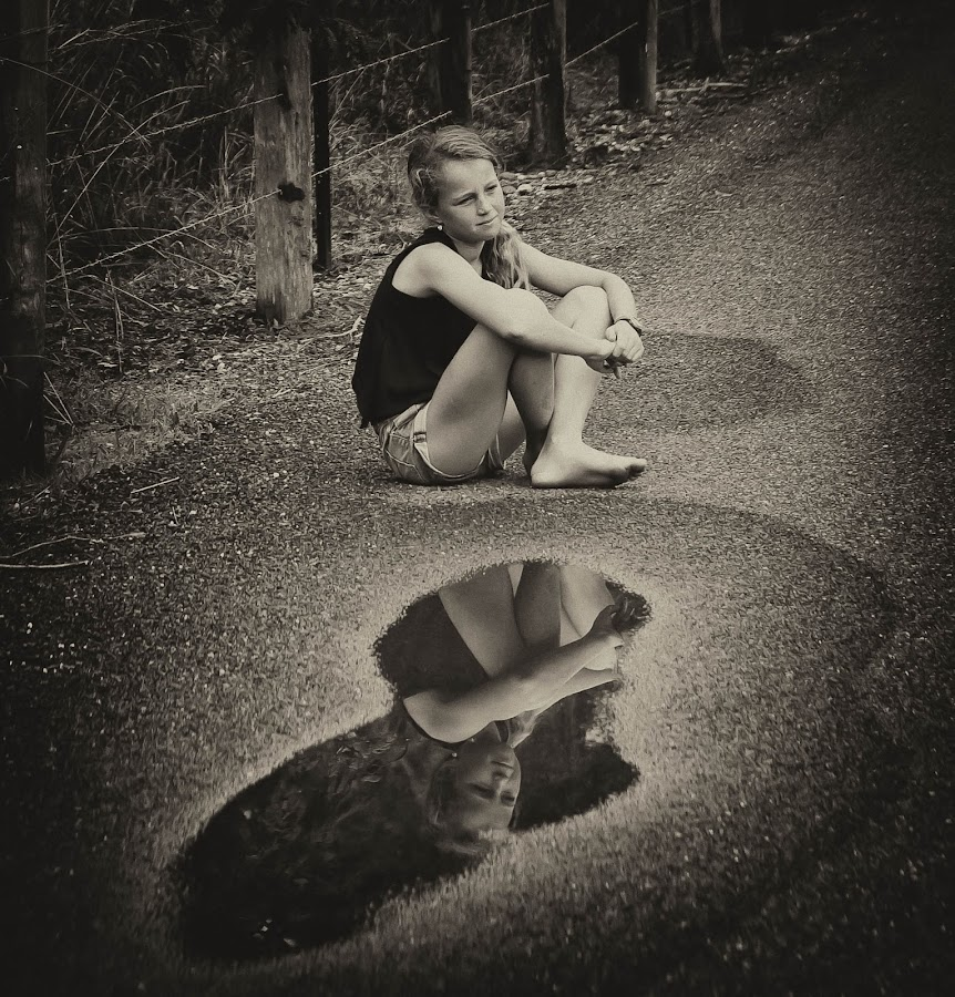 Love Heart Puddle by Lu Townsend - Babies & Children Child Portraits