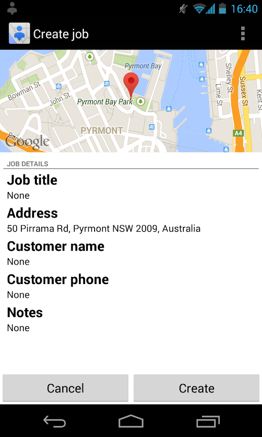 Google Coordinate - screenshot