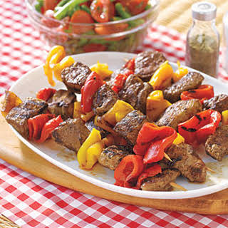 Lamb Kebabs with Roasted Peppers.