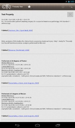 【免費醫療App】骨科臨床診斷 (CORE)-APP點子