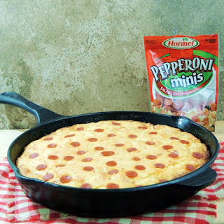 Cheesy Pepperoni Skillet Cornbread