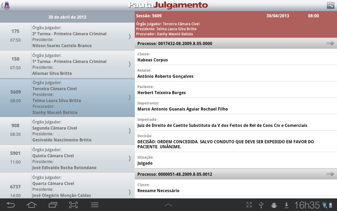 TJBA Mobile - screenshot