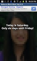Screenshot of Rebecca Black, what day is it?