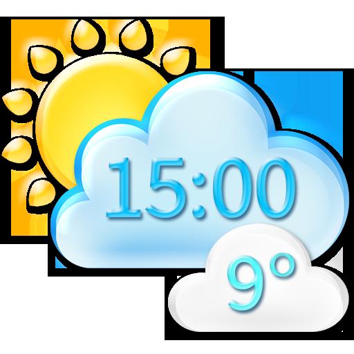 气候 时钟天气预报微件 天氣 LOGO-玩APPs