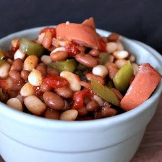 Baked Bean & Sausage Stew.