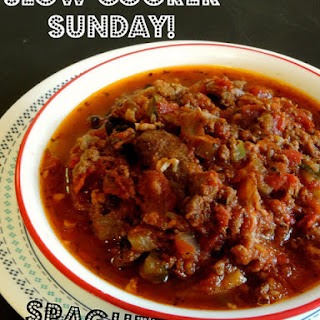 Slow-Cooker Sunday! Spaghetti Sauce!!