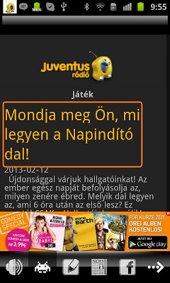 Juventus Rádió - screenshot