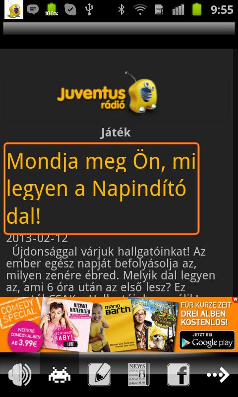 Juventus Rádió- screenshot