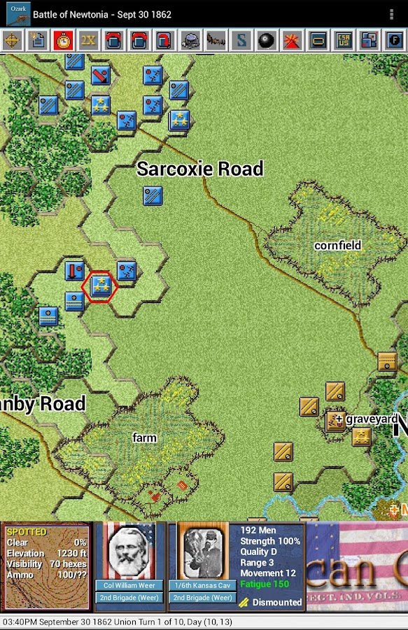Civil War Battles - Ozark - screenshot