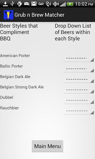 Grub N Beer Matcher w Ads2