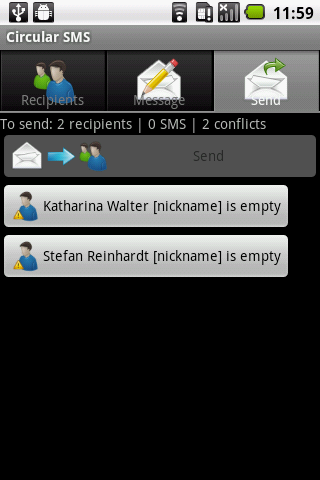 Circular SMS - screenshot