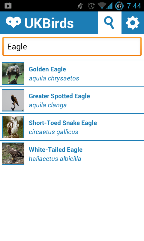UK Birds - Birdwatching App- screenshot