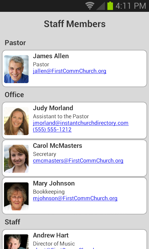 Instant Church Directory- screenshot