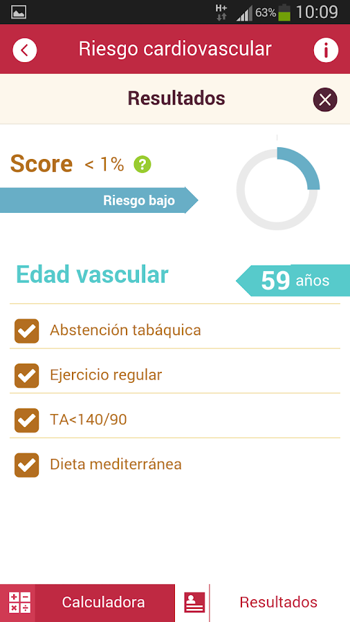 Calculadora RCV- screenshot