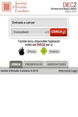 DIEC2 en línia- screenshot
