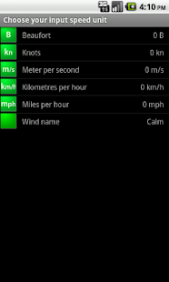 Marine Wind Calculator - screenshot thumbnail