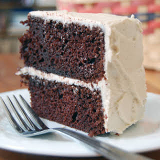 Chocolate Cake with Cappuccino Frosting.