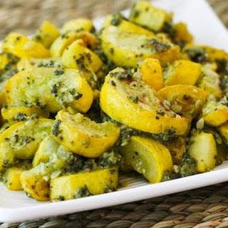 Roasted Yellow Summer Squash with Sage Pesto