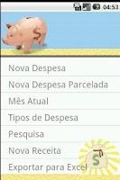 Screenshot of Minhas Contas