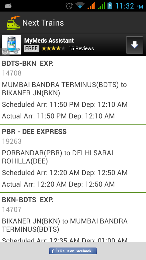 Indian Train Locator - screenshot