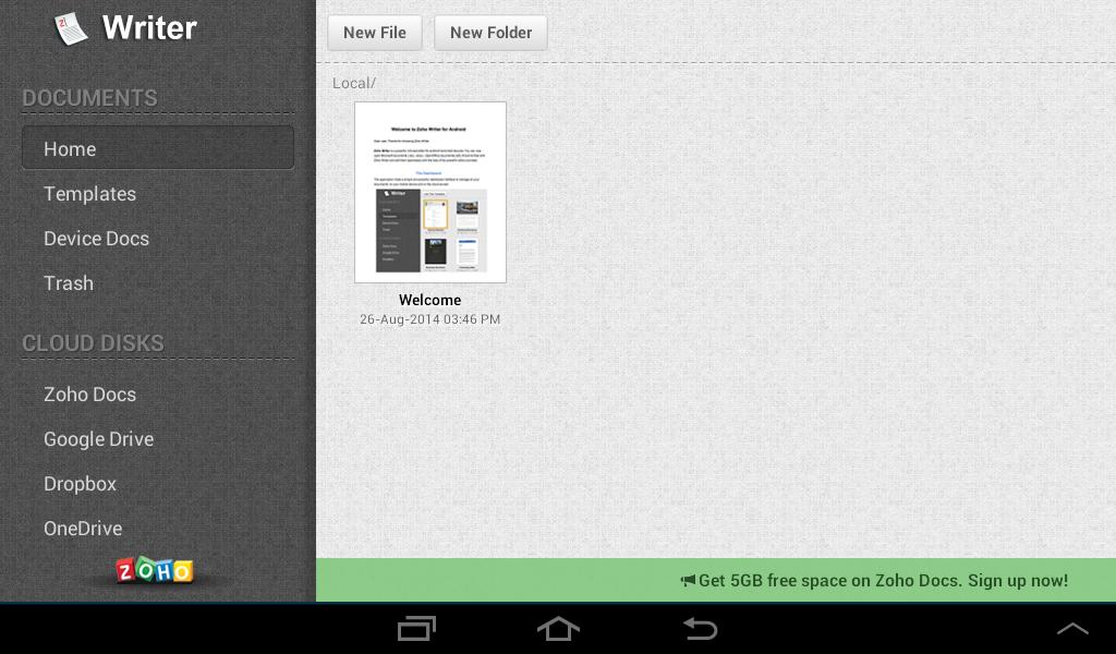 Zoho Writer - screenshot