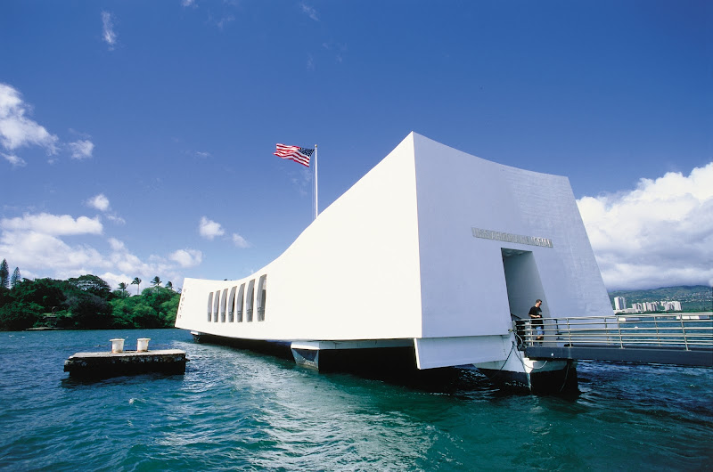 The USS Arizona Memorial marks the resting place of 1,102 sailors and marines killed during the 1941 Japanese attack on Pearl Harbor. It's visited by more than 1 million people each year.