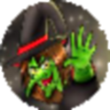 Halloween Witch Warrior icon