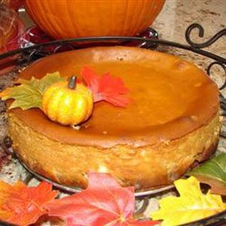 Pumpkin Cheesecake in a Gingersnap Crust