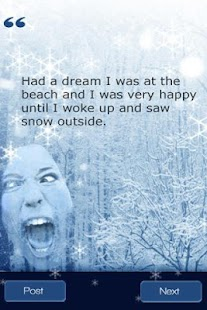 funny snow quotes