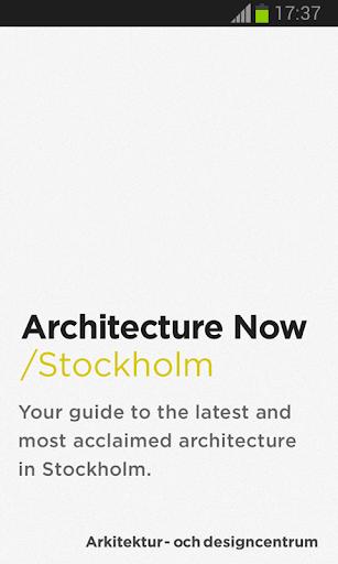 Arkitektur Nu Stockholm