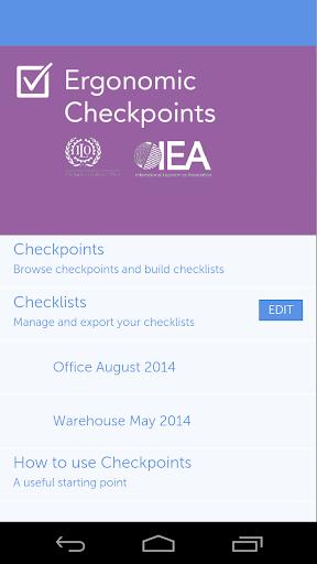 ILO Ergonomic Checkpoints
